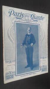 Rivista Settimanale per Lettera Parigi Che Canta N° 165 Mars 1906 ABE