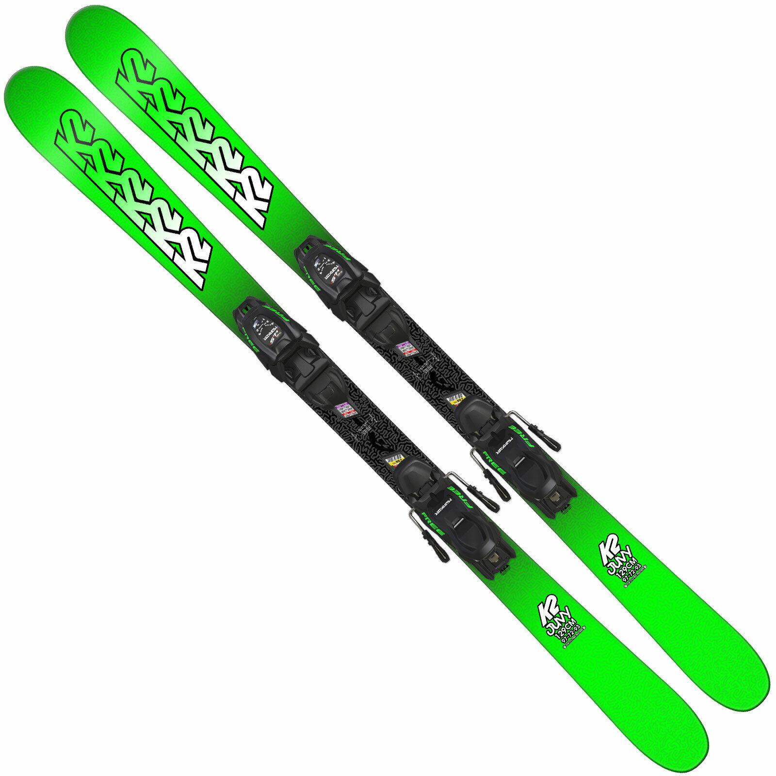 K2 Juvy Kinder-Ski + Marqueur Fdt Junior Fixation Skis Enfants Set Ski Alpin