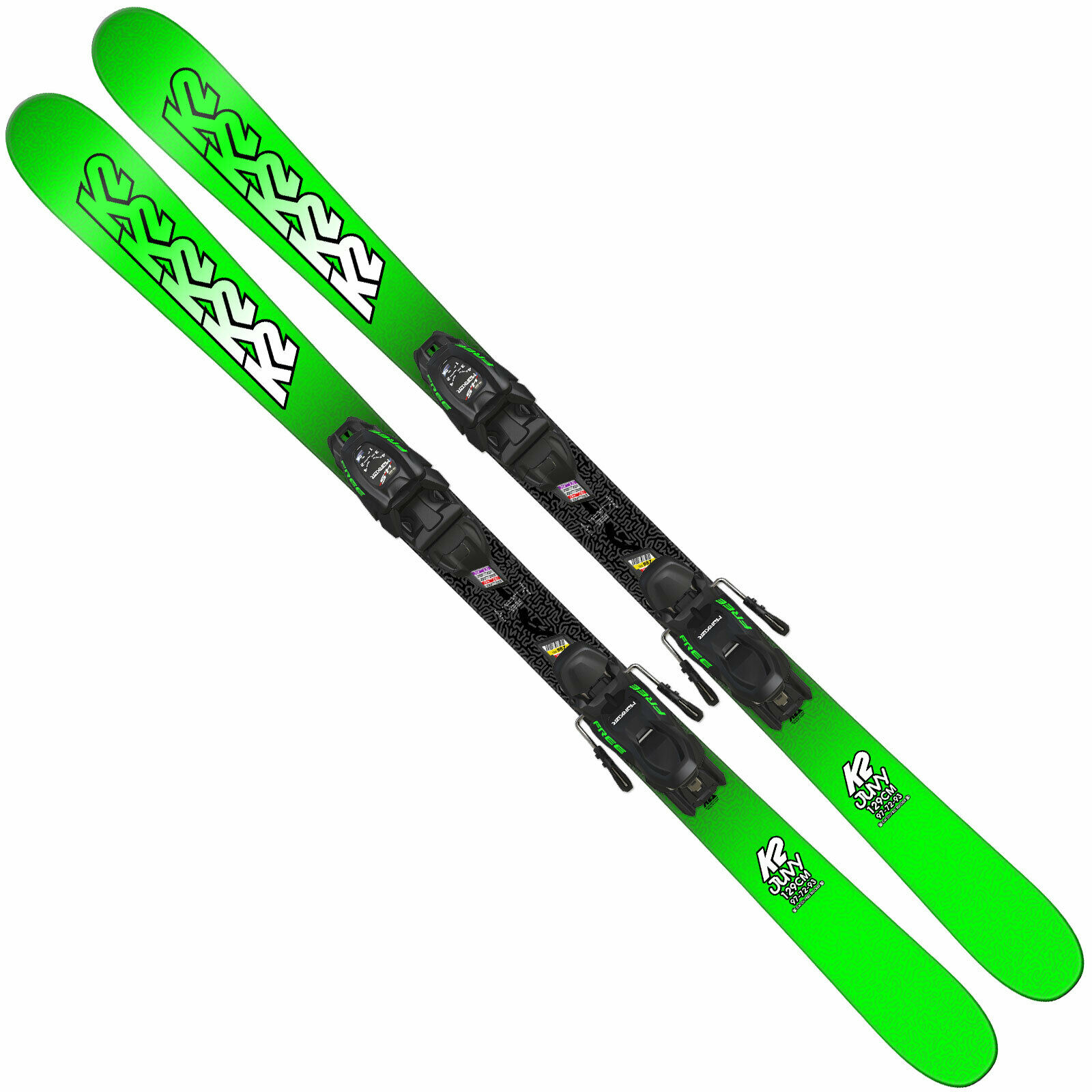 K2 Juvy Kids Skis + Marker FDT Junior Binding  Kinderski Set Alpine Skiing Mountain  more order