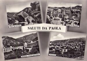 PAOLA (COSENZA) - SALUTI DA PAOLA - RARA CARTOLINA - ANNI '40 - Italia - PAOLA (COSENZA) - SALUTI DA PAOLA - RARA CARTOLINA - ANNI '40 - Italia