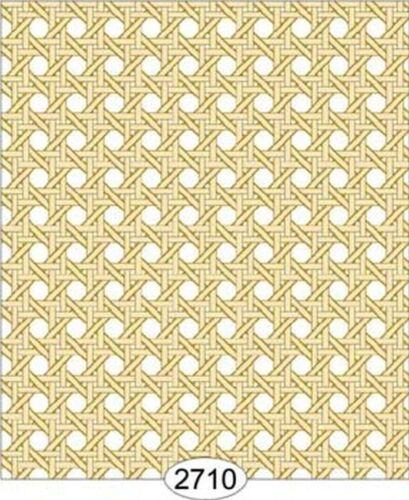 Dollhouse Wallpaper 1:12 Cane Lattice Yellow Gold