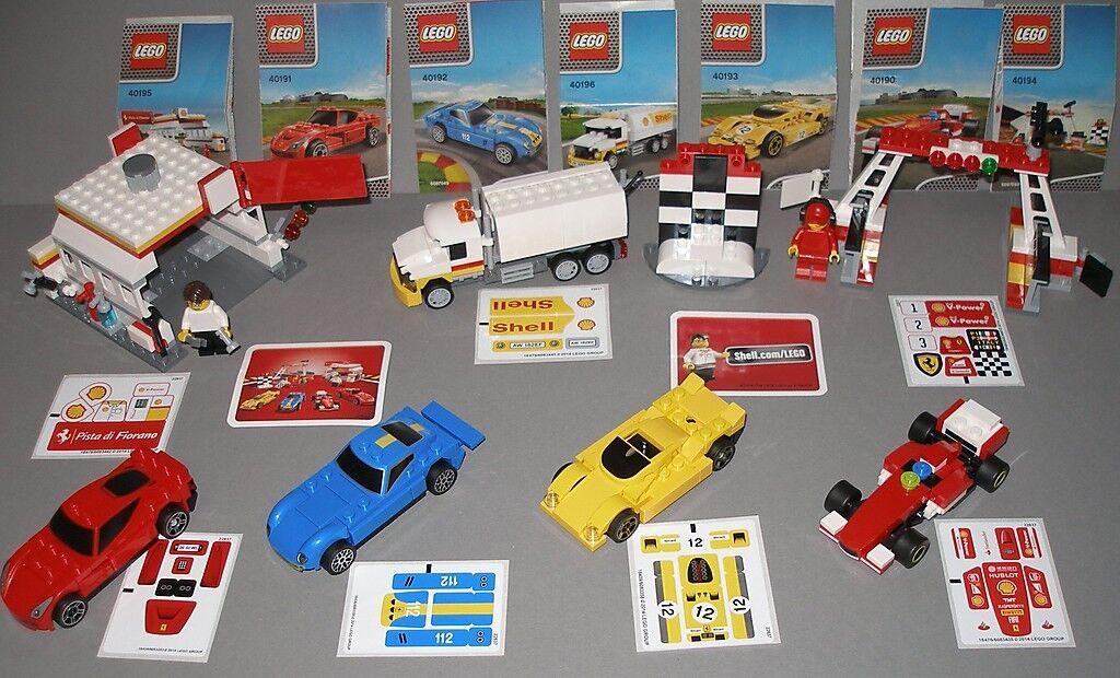 LEGO set Shell V-Power Ferrari  4 voitures, Pétroliers et autre neuf dans sa boîte  RAR