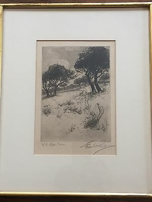 Antique Etching By Earl H Reed (1863-1931)