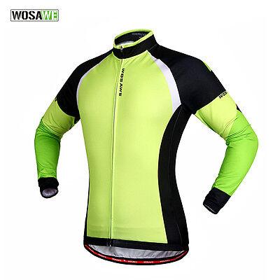 Men's Cycling Fleece Thermal Winter Jacket Casual Coat Outdoor Bike Jersey