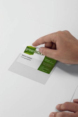 100 DURABLE Visitenkartentasche 9,3 x 6,2 cm selbstklebend transparent