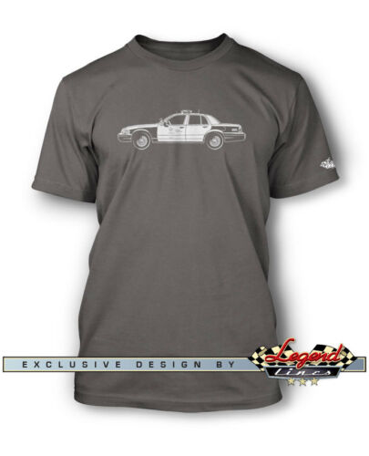 Multiple Colors /& Sizes Ford Crown Vic Police Interceptor LAPD T-Shirt for Men