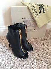 Burberry Heritage Grain Brooksmead 100 Peep Toe Ankle Boots EUR 40 US 10