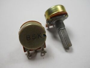 5pcs B200K B204 ohm Single Linear Taper Rotary Potentiometers H/&P
