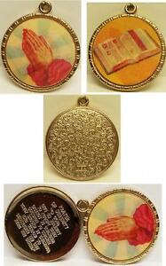 1960-039-s-Vari-Vue-Religious-Flicker-Pendant-Locket-w-Prayer-Inside