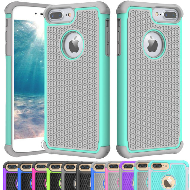 wholesale dealer 9050a b3f03 For iPhone 5 SE 6S 8 7 Plus Phone Case Hybrid Shockproof Armor Hard Cover