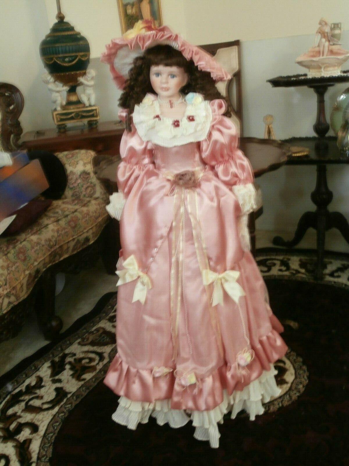 Vintage genuina Muñeca De Porcelana Grande 42 Pulgadas Nuevo En Obra Maestra vida como