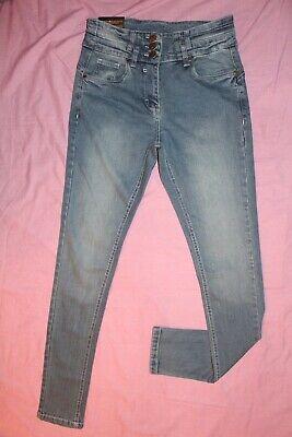 """Prezzo Più Basso Con V7) Onorevoli Impreshunz Nuovo Con Etichetta Blu Spr Skinny Zip Cotone Stretch Jean 8 W28""""/l30.5""""-mostra Il Titolo Originale"""