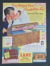 Original 1942 Print Ad LANE CEDAR CHEST Bride Soldier Gift Starts the Home