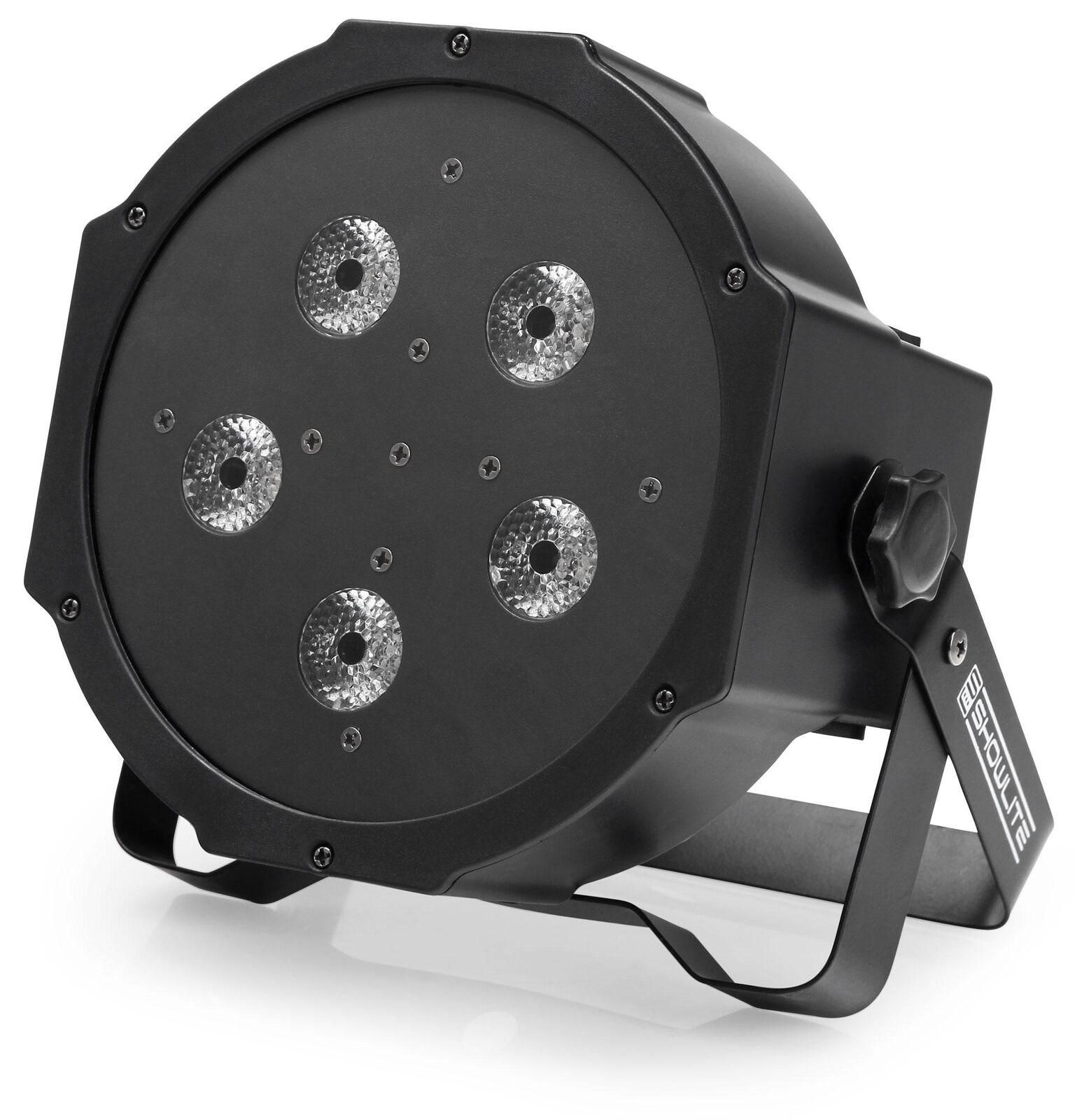 SHOWLITE FLP-5x10W FLATLINE PANEL LED PAR RGB DMX STRAHLER EFFEKT STAGE STROBE
