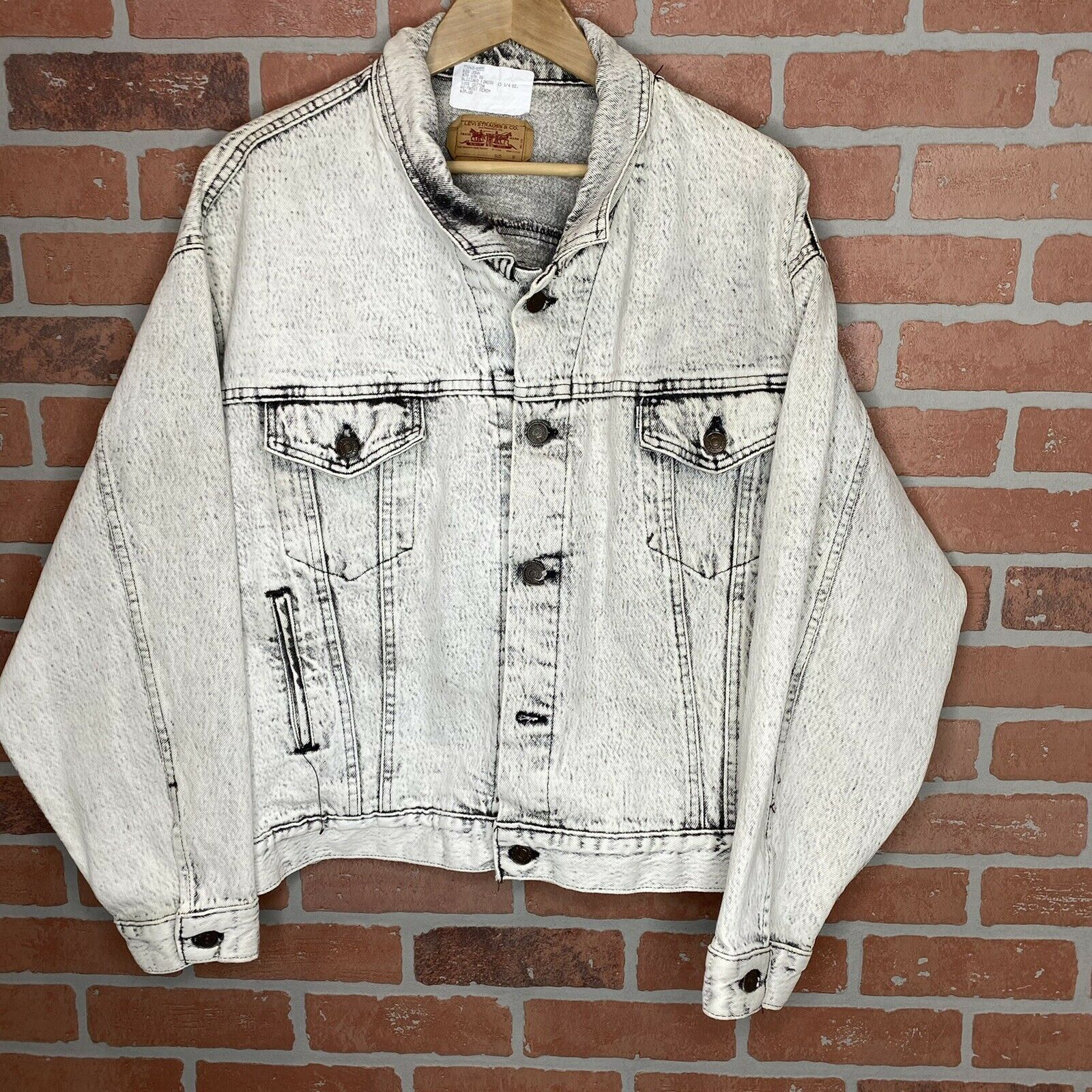 vintage 90's levis denim jacket mens size medium  - image 1
