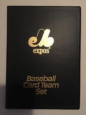 "Montreal Expos Baseball Card Team Set Binder 6"" x 8"" Holds up to 64 Cards"