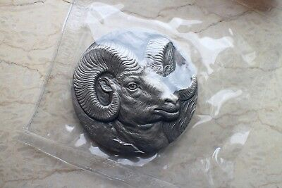 Antiqued China 2015 80 Grams Silver Medal Lunar Series Goat