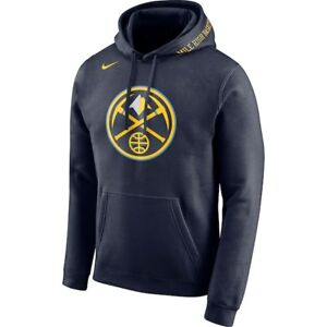 brand new 08f44 68432 Details about Brand New Nike NBA Denver Nuggets City Edition Mile High Logo  Hoodie Sweatshirt