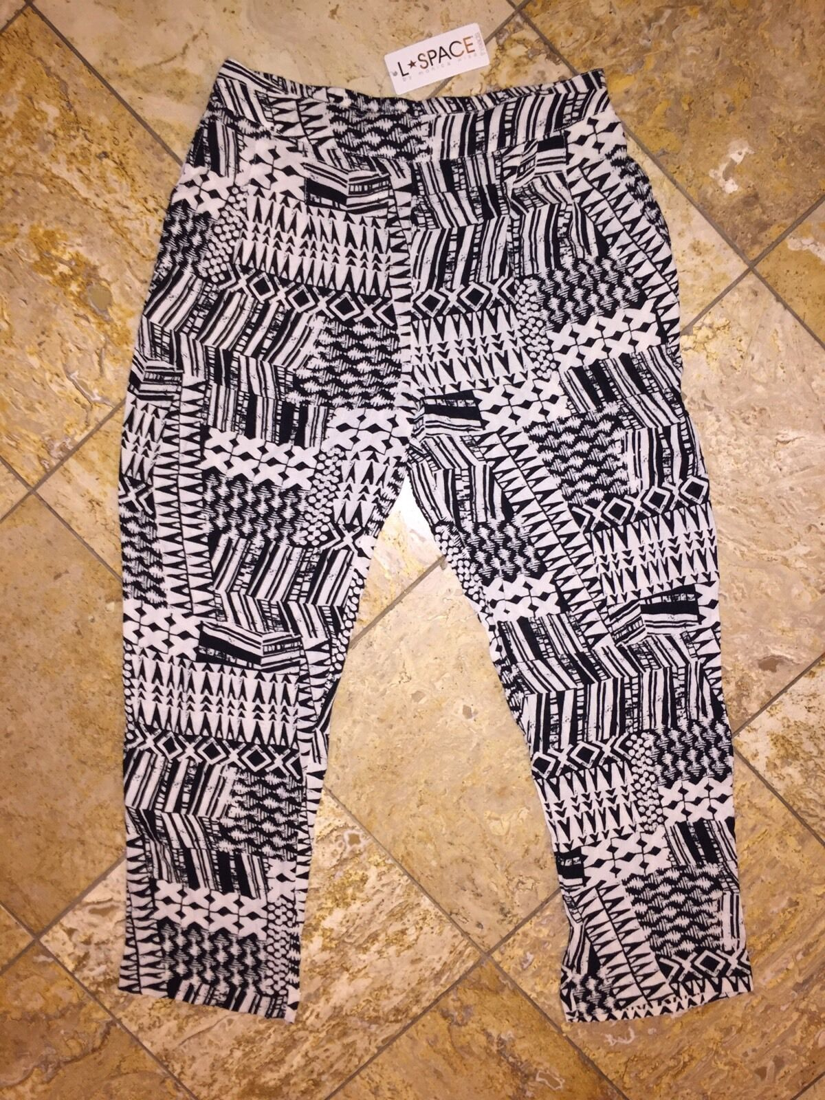 NWT  LSPACE Monica Wise Threads Ivory Coast Trouser Beach Pants Cover-up S