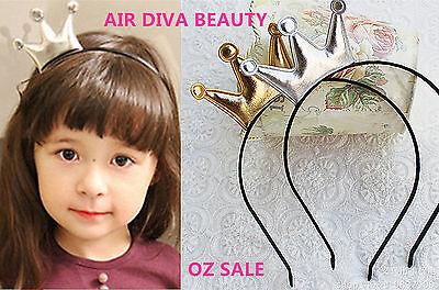 Girls Kids Children Baby Princess Party Birthday Crown Tiara Hair Head Band