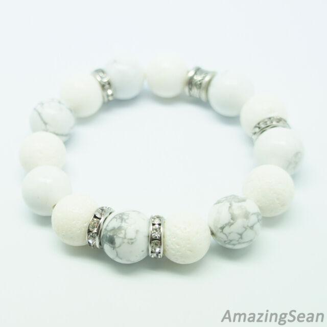 White Coral Bracelets for Women, Girl, Korean Celeb Style, Simple Howlite Beaded