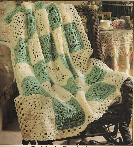 Granny Sampler Afghan granny squares crochet patterns