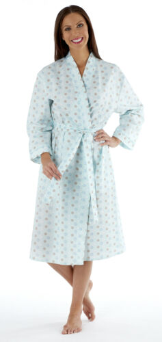 LN202 LADIES NEW SALLY SPOT SEERSUCKER WRAP MINT OR PINK SIZES 10 TO 24