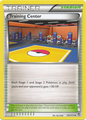 102//111 4x Training Center Furious Fists Uncommon NM-Mint Pokemon XY