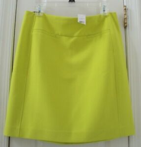 NEW-TAG-ANN-TAYLOR-LOFT-8-VIBRANT-NEON-YELLOW-STRAIGHT-PENCIL-SUIT-SKIRT-6MD