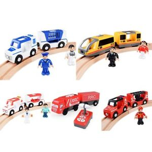 Details About Magnetic Electric Train Toys Wooden Railway Track Electric Train Cabin Set Gifts