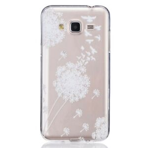 Détails sur Coque pour Samsung Galaxy J3 (2016) Transparente motif Fleurs Blanches
