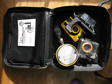 SeaLife ReefMaster underwater dive camera CL, yellow, case and external flash