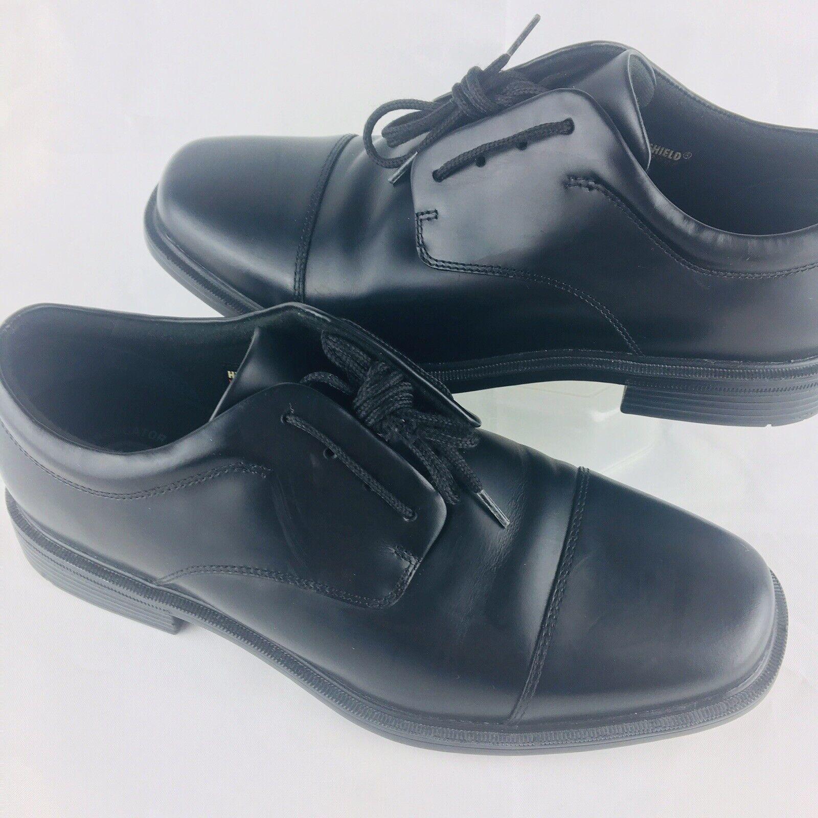 Rockport Men's 7 EllingwoodWaterproofOxfords Black  Oxblood Dress shoes New