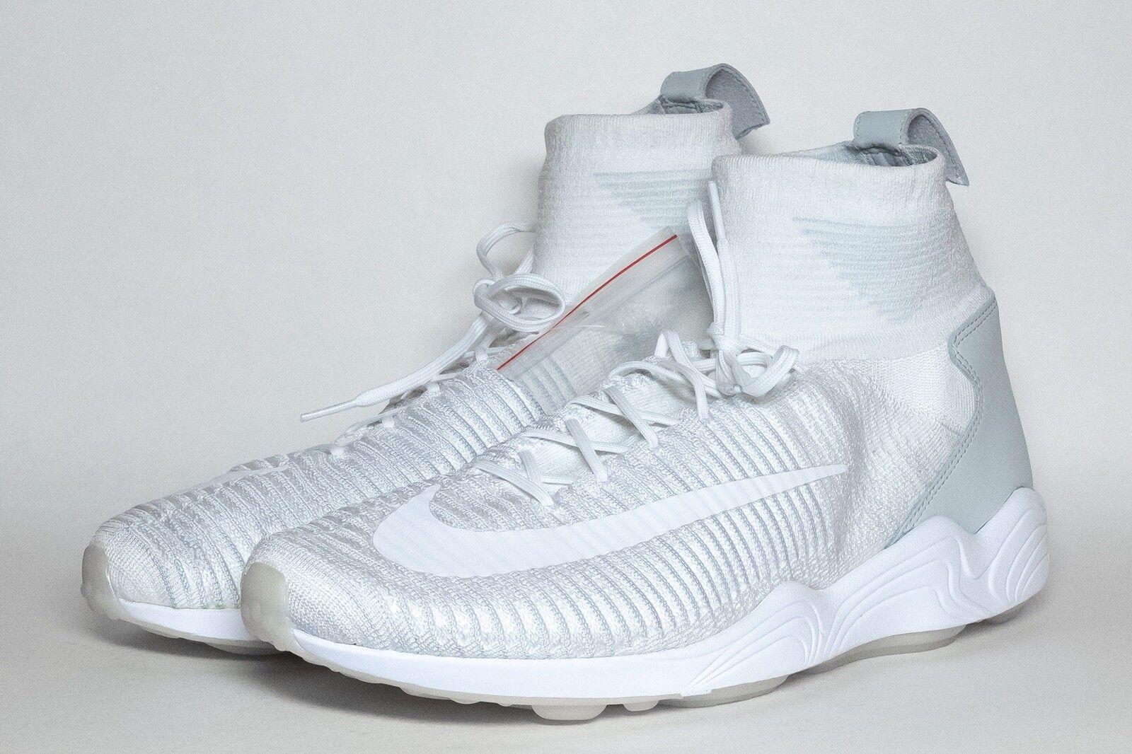 Nike Zoom Mercurial XI Flyknit White Grey Spiridon Talaria 844626-100 USA Sz 11