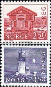 Norwegen-876-877-kompl-Ausg-postfrisch-1983-Bauwerke