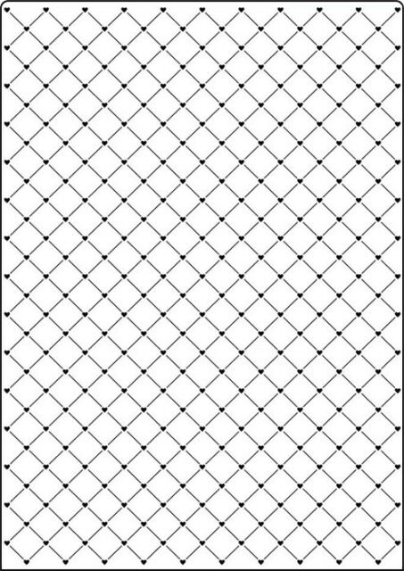NEW  Crafts Too A4 Embossing Folder - HEART LATTICE CTA4016