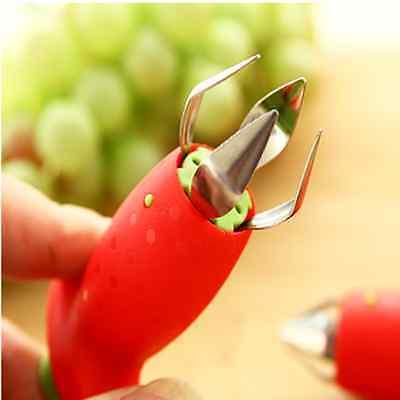 Strawberry Stem Leaves Huller Remover Removal Fruit Corer Kitchen Gadgets Tools