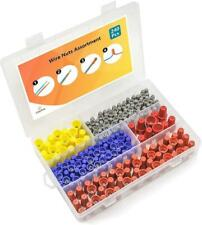 240 Pcs Wire Nuts Assortment With Spring Insert Nuts Caps Kit Electrical New