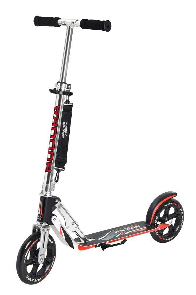 Hudora Big Wheel RX 205 City Scooter Kinder Cityroller schwarz/rot 14724