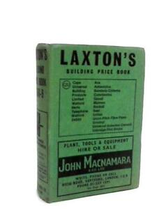 Image Is Loading Laxton 039 S Building Price Book 1968 9