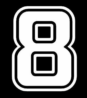 KOBE 8 LOGO WHITE VINYL DECAL STICKER Exterior Accessories ...