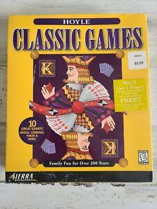 1998 HOYLE CLASSIC GAMES by Sierra SEALED Vintage Big Box PC Game CDROM