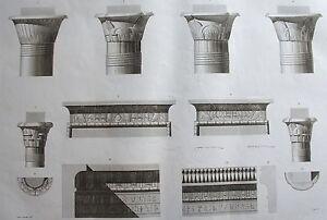 Iles De Philae. (pl. 7, A. Vol. I).chapiteaux Et Corniche.. Description Egypte
