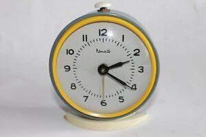 Vintage Russian VITYAZ Alarm Clock 4 Jewels