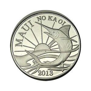elf Hawaii Maui 2 Dollars 2010 Iiwi Bird Sunrise