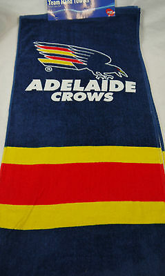 AFL OFFICIAL TEAM ADELAIDE CROWS SET OF 2 HAND TOWEL 33 CM X 72 CM TOWELS NEW