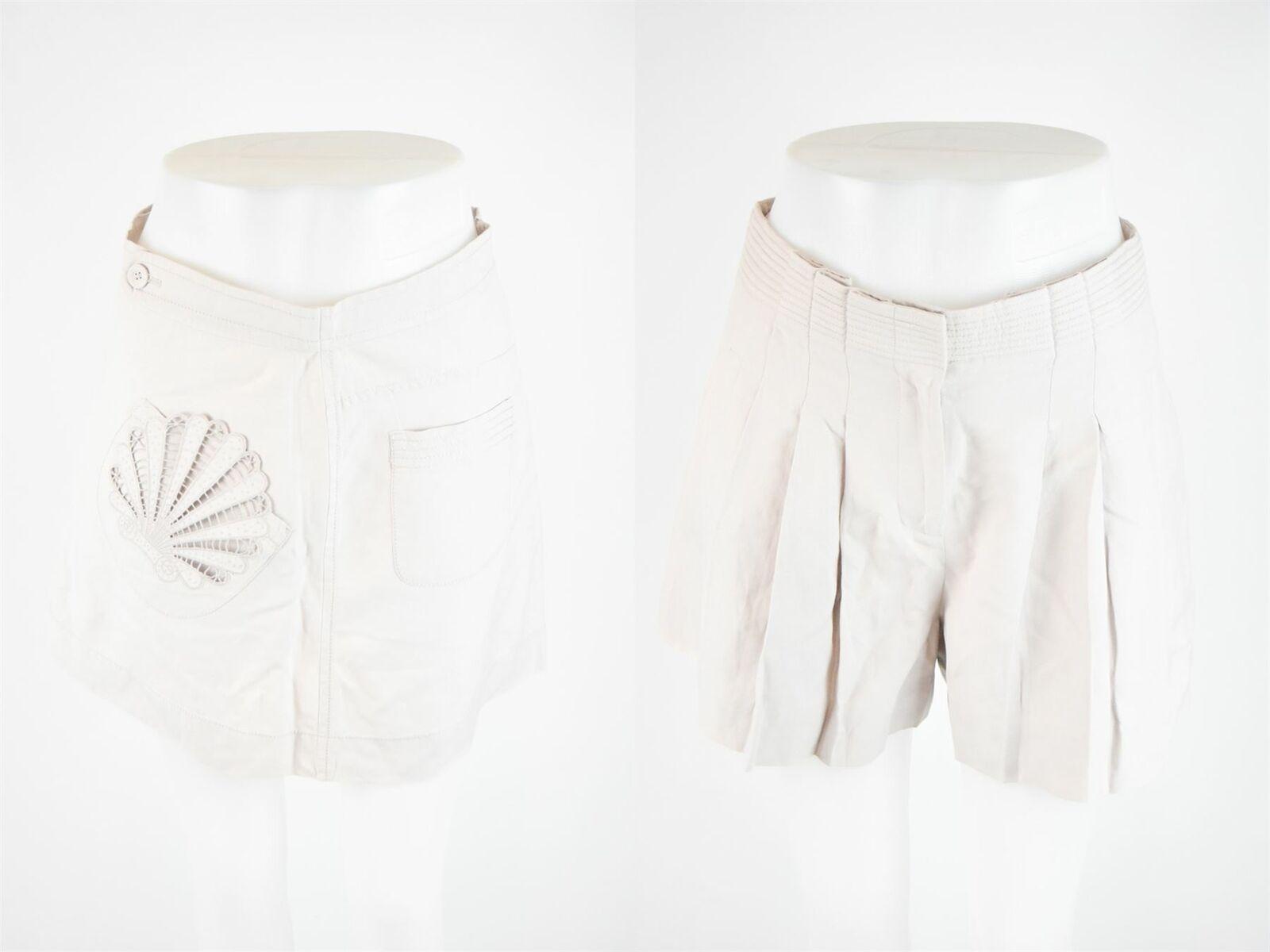 JAEGER LONDON Beige Silk Blend Skirts & Shorts, US 4