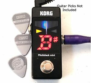 korg pitchblack mini pedal tuner for guitar bass pbmini pb mini compact sale 4959112147270 ebay. Black Bedroom Furniture Sets. Home Design Ideas
