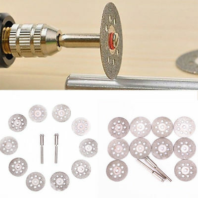 12Pcs Rotary Tool 22mm Circular Saw Blades Cutting Wheel Discs Mandrel Cutoff