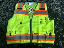 Majestic High Visibility Yellow Heavy Duty Surveyors Vest Ansi Class 2 Rated